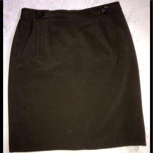 Ann Taylor Chocolate Brown Career Skirt